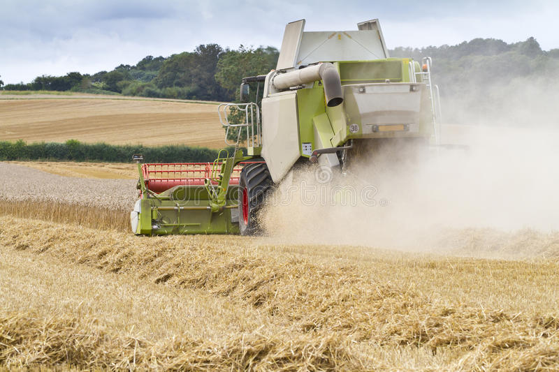 Download Combine Harvester Cutting Cereal Stock Photo - Image: 26329852