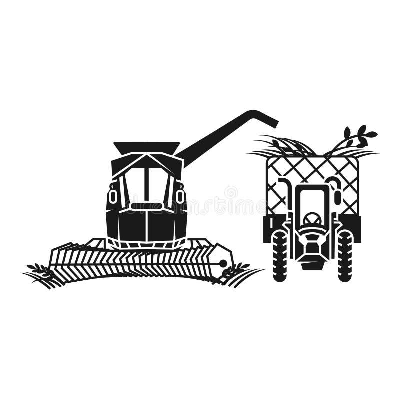 Combine harvester fill tractor icon, simple style. Combine harvester fill tractor icon. Simple illustration of combine harvester fill tractor vector icon for web vector illustration