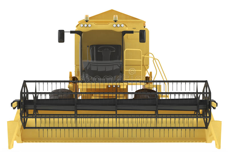 Combine-harvester isolated. At the white background royalty free illustration