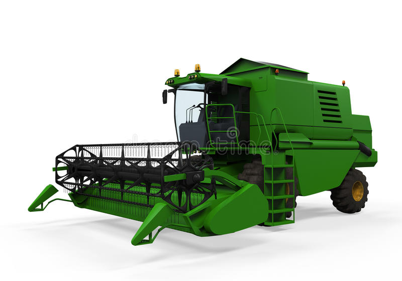 Combine Harvester Isolated. On white background. 3D render vector illustration