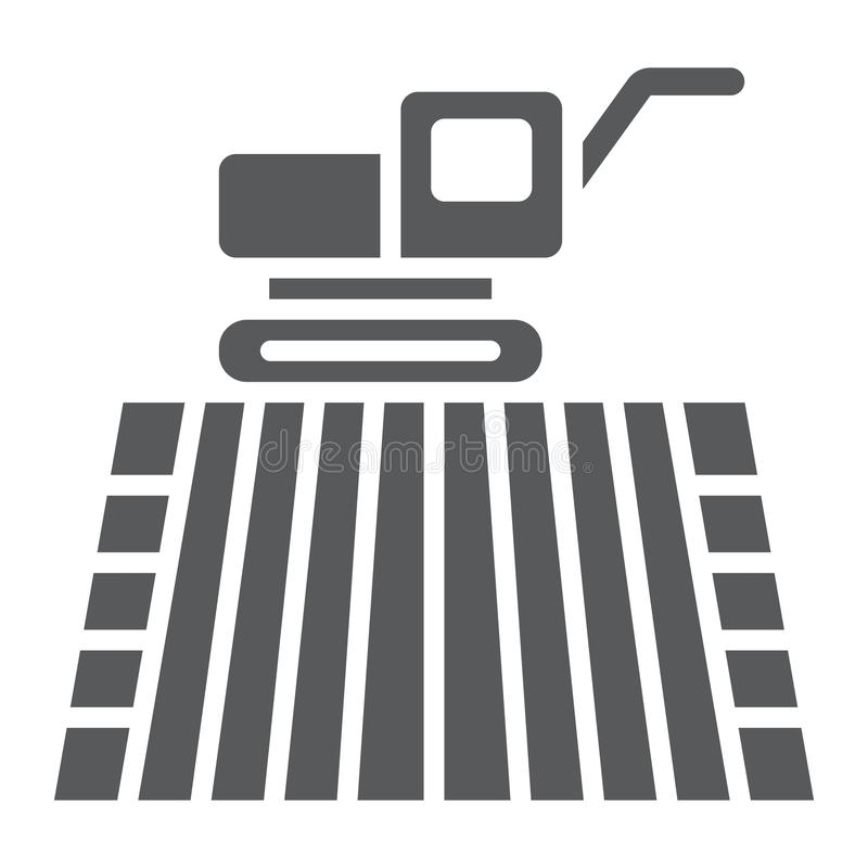 Free Combine Harvester On Field Glyph Icon, Farming Royalty Free Stock Images - 110504239