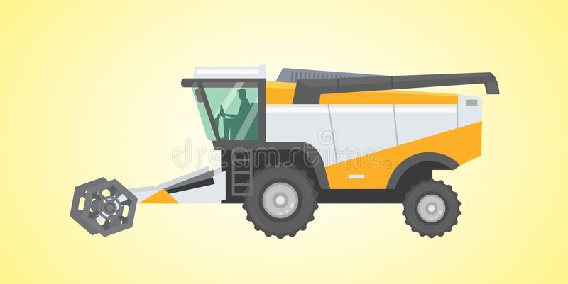 Combine harvester, vector isolated illustration. Combine harvester, vector isolated illustration eps10 vector illustration
