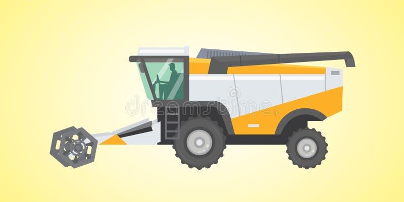 Combine harvester, vector isolated illustration. vector illustration