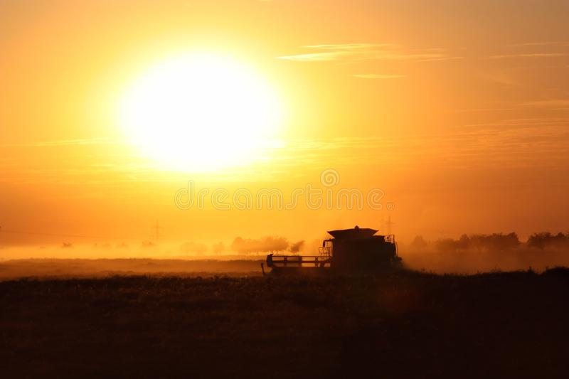 Download Combine in Sunset stock image. Image of farmer, sunset - 33000263