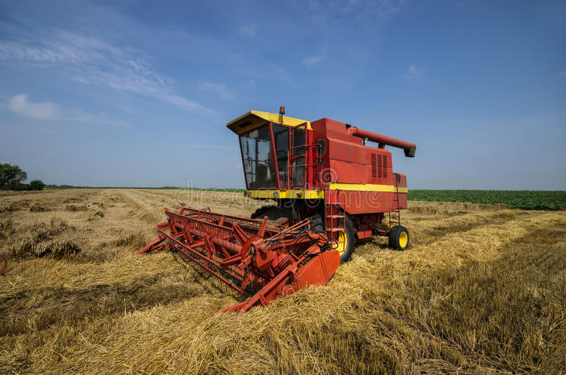 Download Combine working stock image. Image of equipment, country - 32322713
