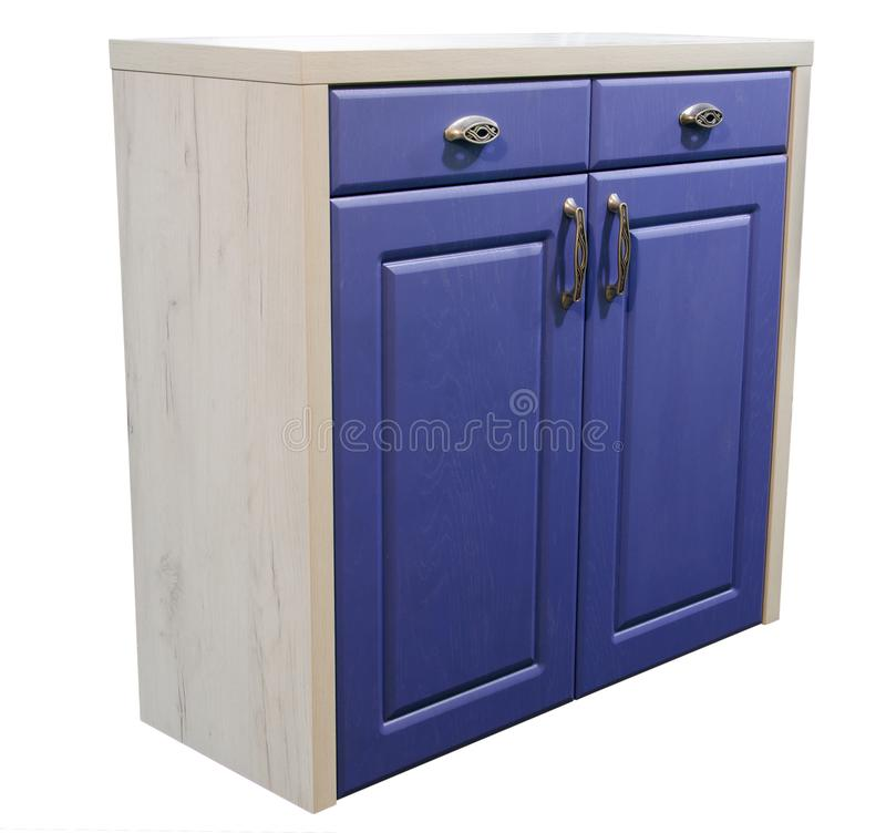 Combined cabinet with doors and drawers, isolated on white background stock photos