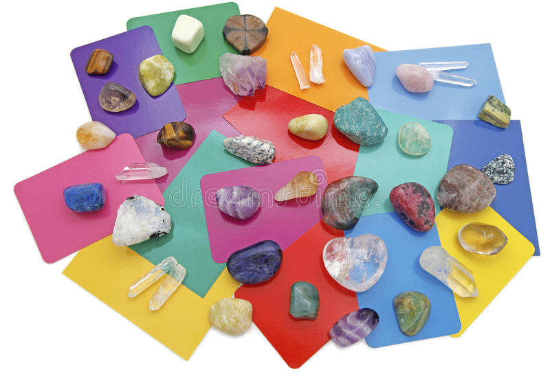 Combined Color Crystal Reading royalty free stock photography
