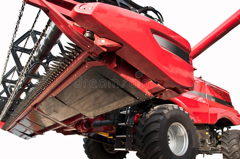 Combined harvester. Close up and isolated stock photo