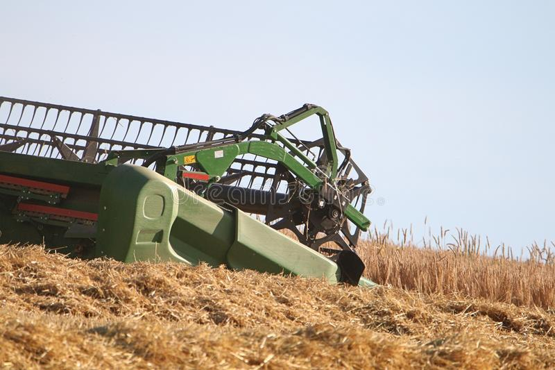 Combined harvester. / Agriculture harvest machine stock image