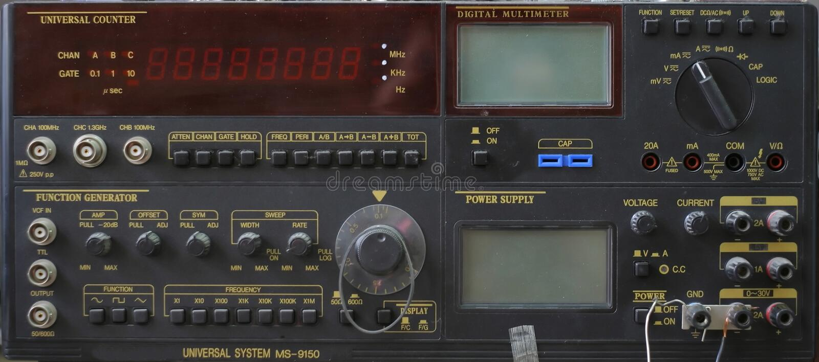 Combined metering device stock image
