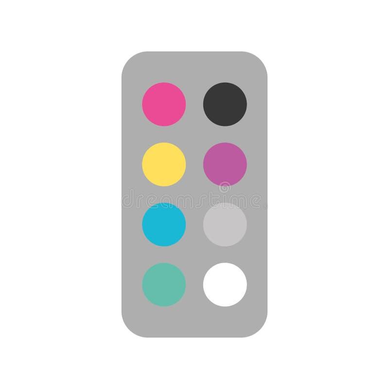 Combineer kleurenpalet royalty-vrije illustratie