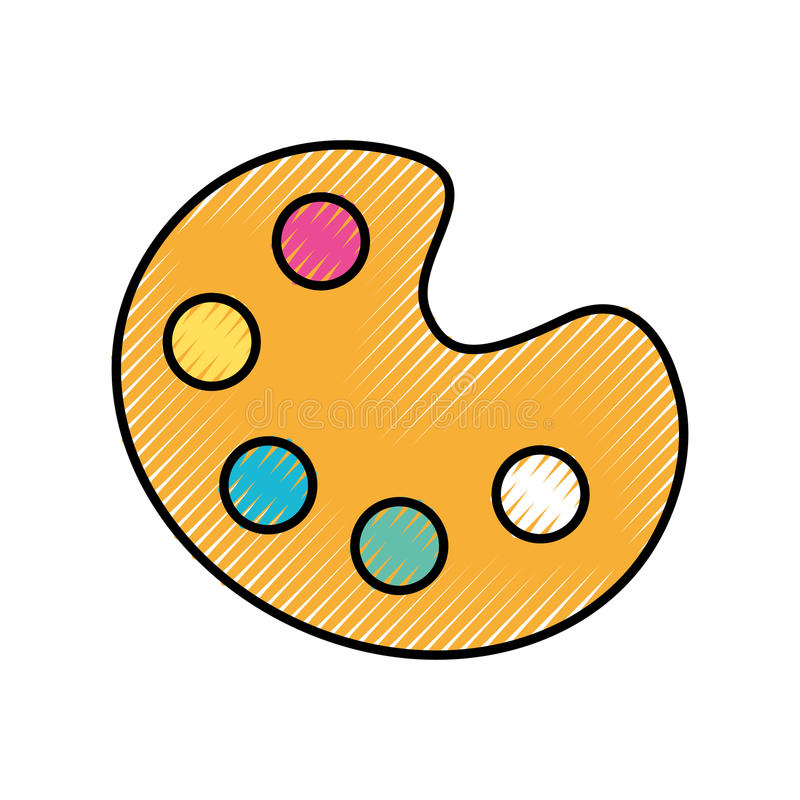 Combineer kleurenpalet stock illustratie