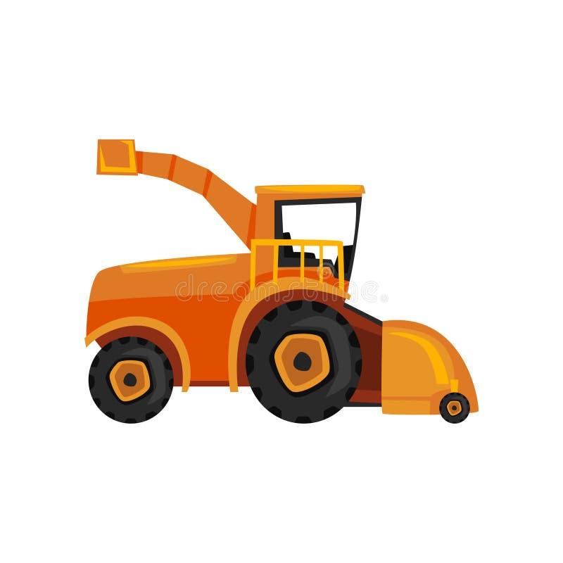 Combineer landbouwbedrijfmachines, landbouwmaaimachine vectorillustratie op een witte achtergrond vector illustratie