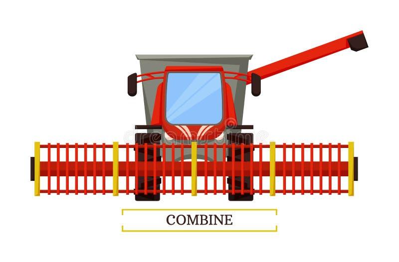 Combineer Landbouwmachine Vectorillustratie vector illustratie