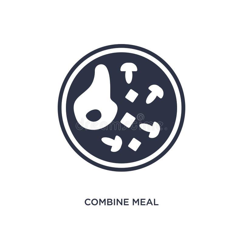 combineer maaltijdpictogram op witte achtergrond Eenvoudige elementenillustratie van bistro en restaurantconcept stock illustratie
