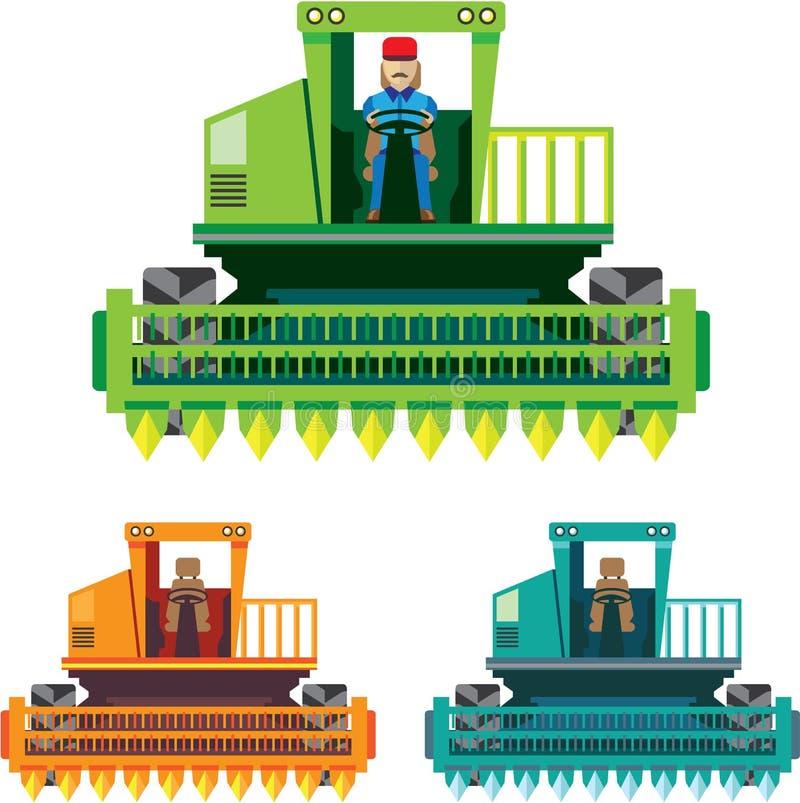 Combineer met landbouwer vector illustratie