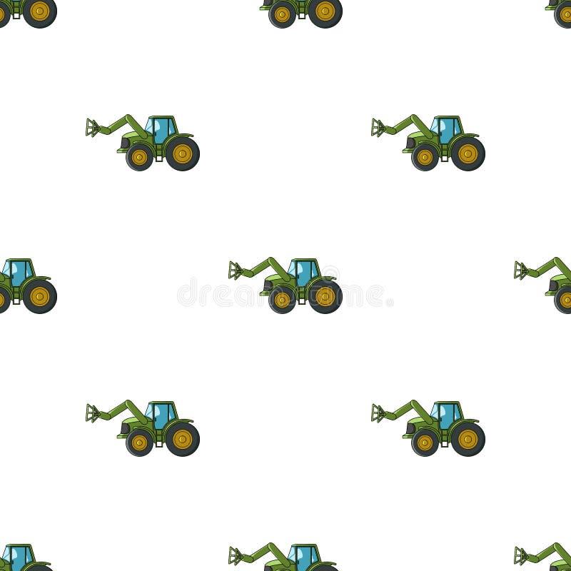 Combineer met lange hydraulische benen om het hooi te vangen Landbouwmachines enig pictogram in het vectorsymbool van de beeldver vector illustratie