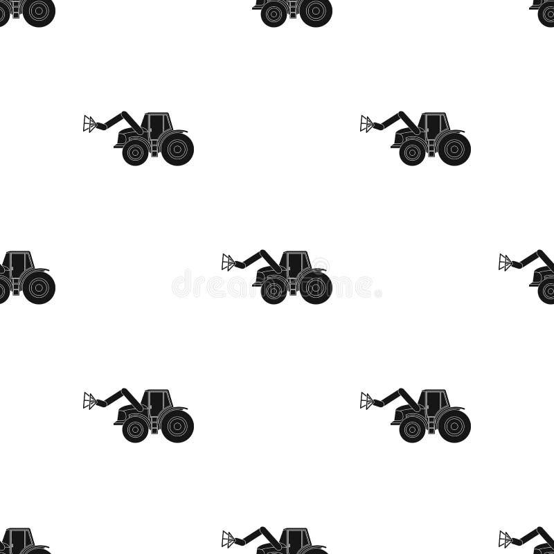Combineer met lange hydraulische benen om het hooi te vangen Landbouwmachines enig pictogram in zwart stijl vectorsymbool stock illustratie