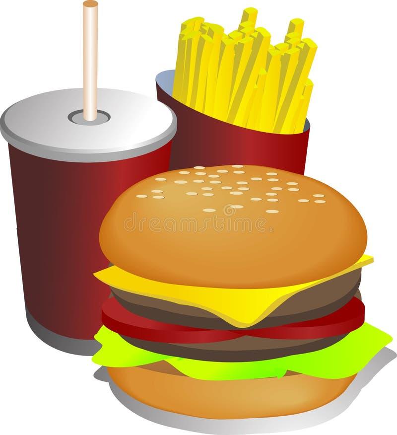 combo ilustracyjny posiłek. ilustracja wektor