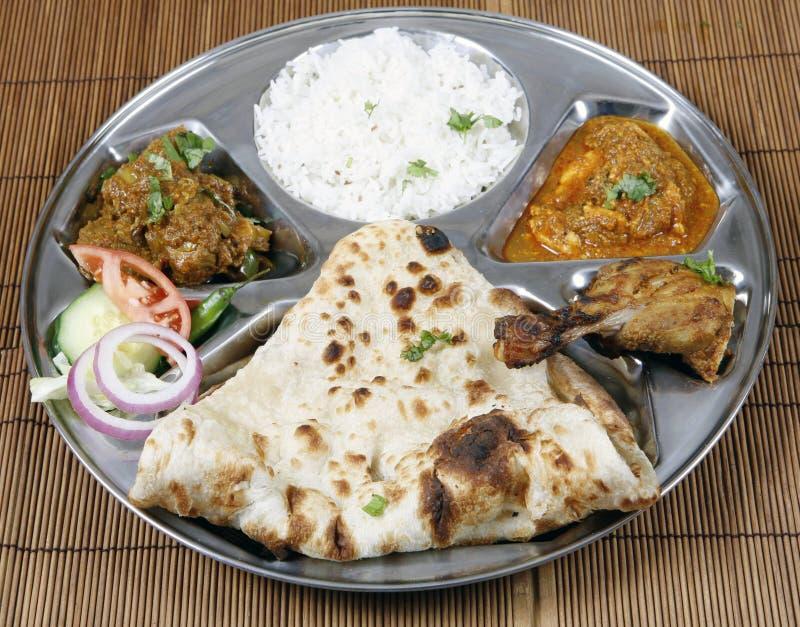 combo indyjski thali obrazy stock