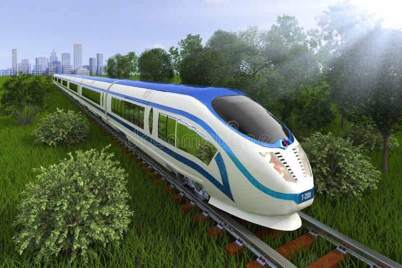 Comboio da periferia ilustração stock