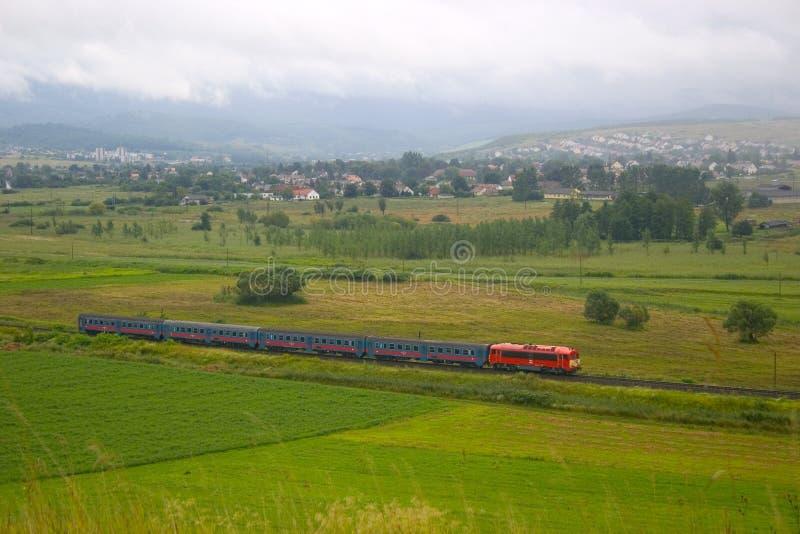 Comboio de passageiros fotografia de stock royalty free