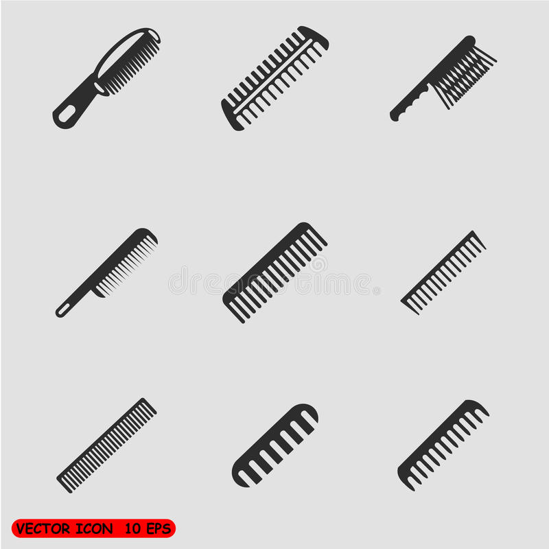 Combs icon set vector illustration