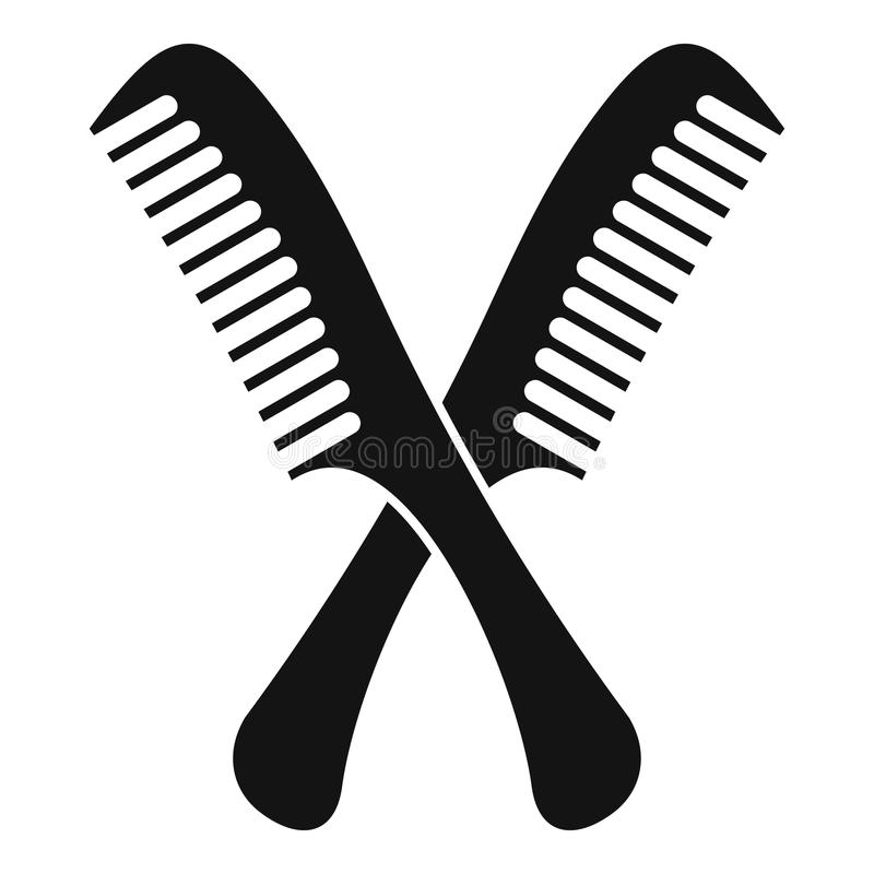 Combs icon, simple style vector illustration