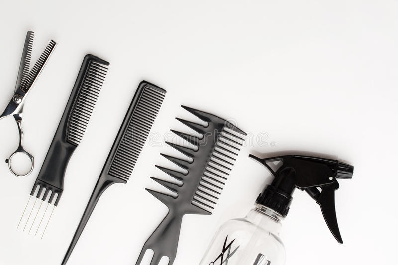 Combs isolated on black royalty free stock image