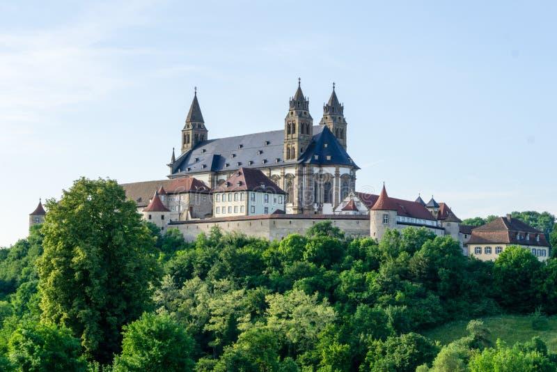 Comburg Großcomburg monaster przy Schwäbisch Hall, Baden-Wurttemberg Niemcy fotografia royalty free