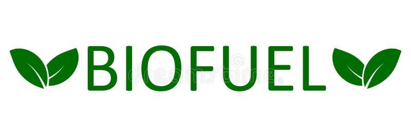Combustível biológico com folhas - vetor do logotipo ilustração royalty free