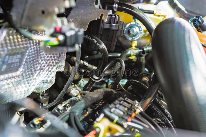 Combustión interna del motor, la carretilla elevadora de la unidad de la alimentación principal imagen de archivo libre de regalías