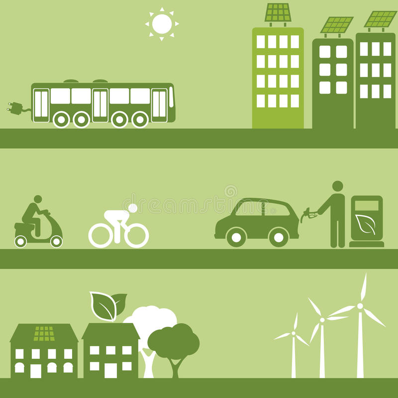 Combustibile Alternativo E Costruzioni Solari Immagini Stock