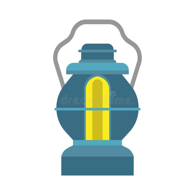 Combustibile dell'attrezzatura della decorazione di progettazione della lampada della lanterna dell'olio Icona d'annata invecchia illustrazione vettoriale