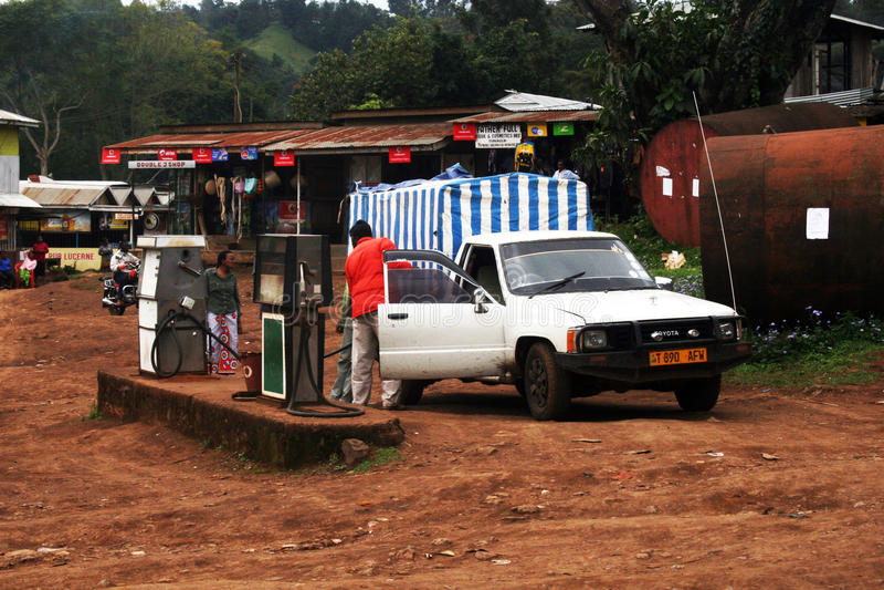Combustibile in Tanzania fotografie stock