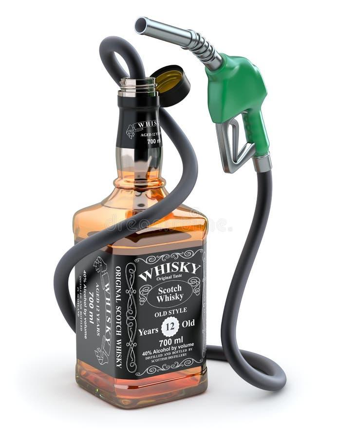 Combustible del whisky stock de ilustración