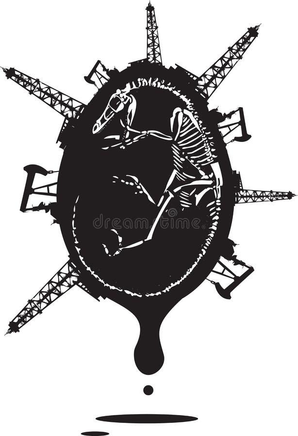 Combustible fósil ilustración del vector