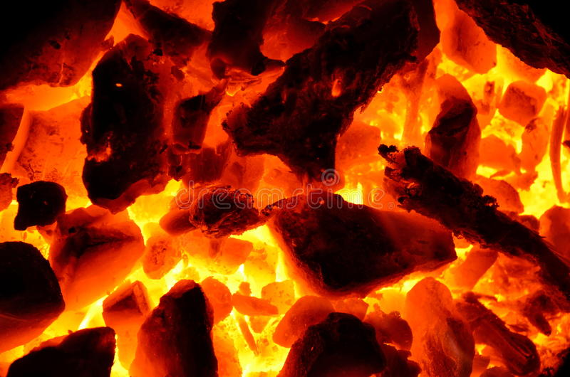 Combustion. Background from the burning charcoal wood mixture stock images