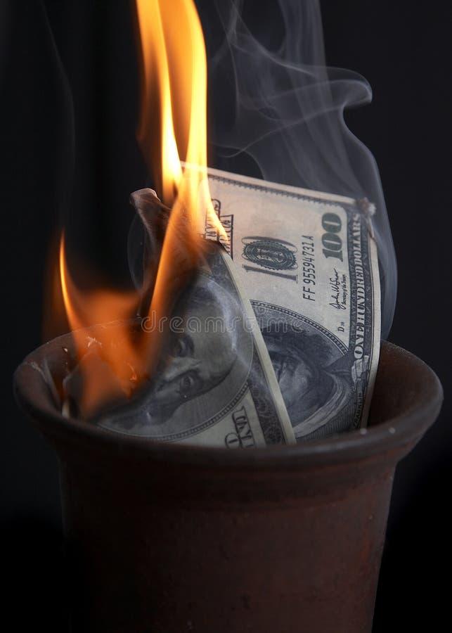 Combustion de l'argent photo libre de droits
