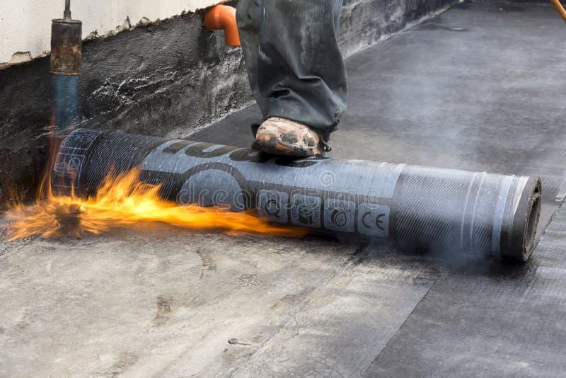 Combustion de la membrane imperméable photos libres de droits