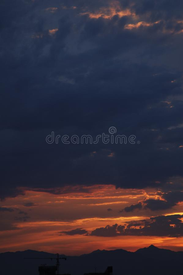 Download Combustion sky stock image. Image of golden, clouds, community - 6154853