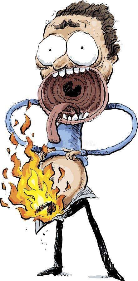 Combustion spontanée de pénis illustration de vecteur