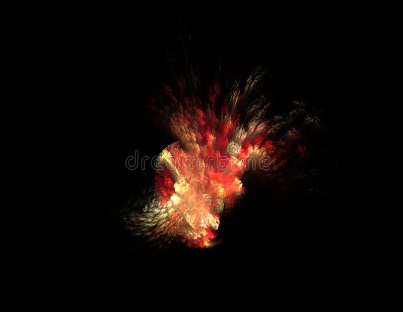 Combustion sur le fond noir, illustration rendue par fractale illustration de vecteur