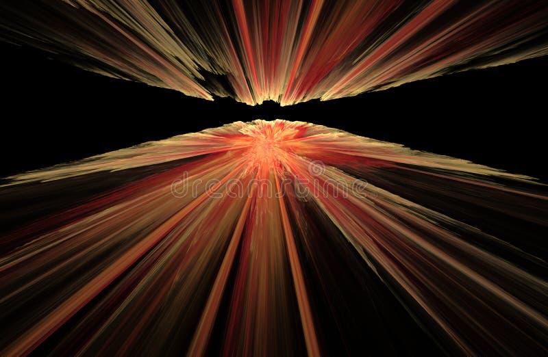 Combustion sur le fond noir, illustration rendue par fractale illustration libre de droits