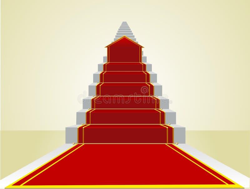 Começando a estrada ao sucesso na escada da carreira ilustração stock