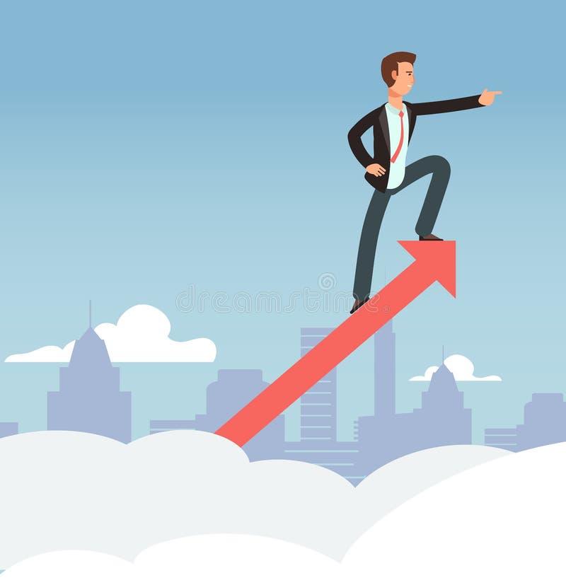 Começando o conceito do crescimento do vetor do negócio Fundo novo da visão da oportunidade e do negócio ilustração royalty free