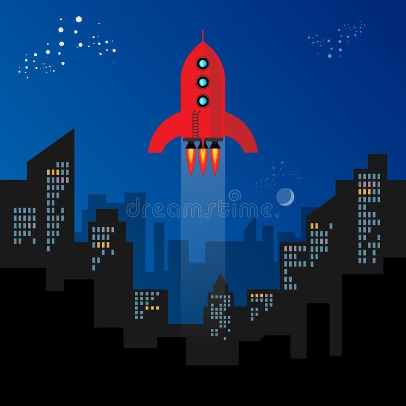 Começo de Rocket ilustração do vetor