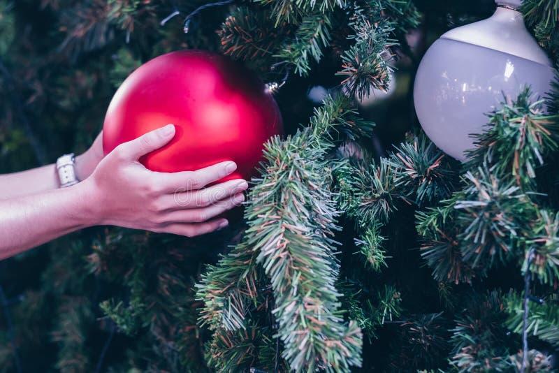 come decorazione, rami del contenitore di regalo e di pino, buon anno e feste di natale fotografie stock