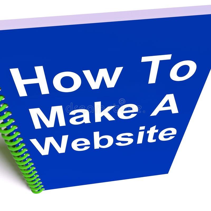 Come fare un sito Web sul taccuino royalty illustrazione gratis