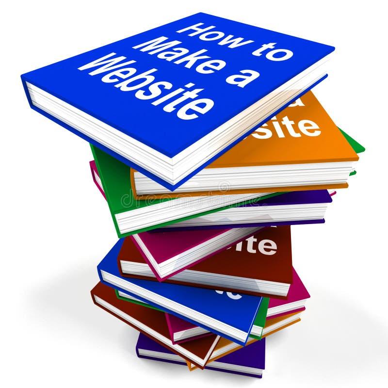 Come fare una pila di libro del sito Web mostra il web design royalty illustrazione gratis